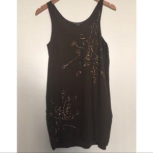Armani Exchange Silk Sequin Mini Dress